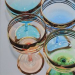 Vintage Wine Glasses painting