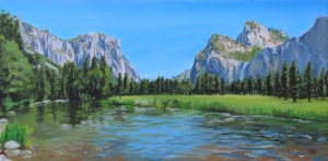 Oil painting of Yosemite Valley